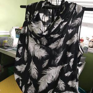 Cowl neck sleeveless blouse